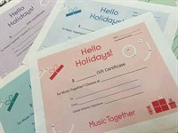 Gift Certificates for New Family 10-week Winter Session